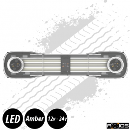 "Axios Lightbar - 48"", Inc. 2 Beacon Units, Controller and Junction Box, 12/24v"