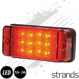 Fog Light Red Glass - 1 Function