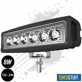 SWEDSTUFF 8W Super Bright LED Work Light 12/24v - 1 Year Warranty