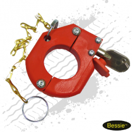 Bessie Airline Service Exchange Lock Red With Chain