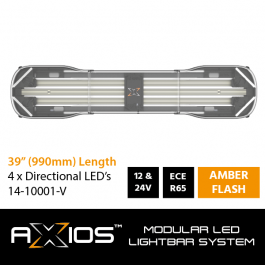 """Axios Lightbar - 39"""", Inc. 4 Directional LED Units, Controller and Junction Box, 12/24v"""