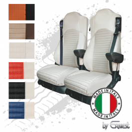 Pair Of The Best Professional Premium Reclining Seat Covers Tailored Fit Suitable For Mercedes Antos, Arocs & Actros