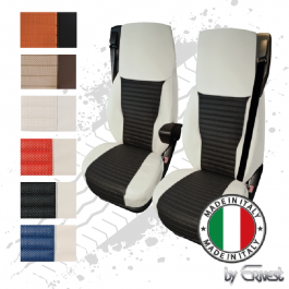 Pair Of The Best Professional Premium Seat Covers Tailored Fit Suitable For DAF XF, CF, Euro 6