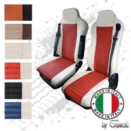 Pair Of The Best Professional Premium Seat Covers Tailored Fit Suitable For Iveco Stralis, Hi-Way, Hi-Road & Eurocargo
