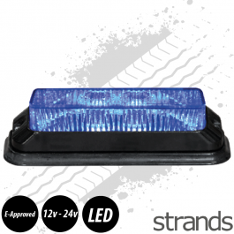 CLEARANCE Blue High Power Strobe 12-24V 4 LEDs x3W IP68 ECE/R65 Approved