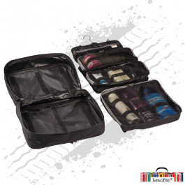 HangPac Toiletry/Overnight Bag With Hook And Suction For Mirrors Or Walls - Includes 3 Pockets