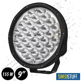 "SWEDSTUFF 155 Watts Driving Light 9"" LED Spot Beam - Actual Lumens 13040"