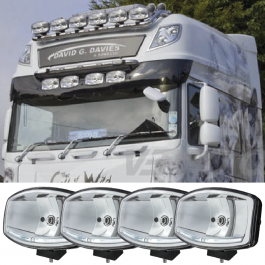 DEAL PACK! DAF 105/106 Sun Visor Includes 4 Oval Spotlights!