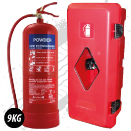 9Kg Powder Fire Extinguisher With External Fire Box To Fit.