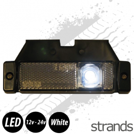 Strands White Side Marker & Reflector 12-24v LED