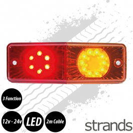 Tail Light 12-24 LED Universal Rear/Brake/Indicator