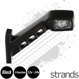 Side Marker / Position Lamp LED Rubber Arm (Left, long)