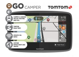 "CLEARANCE TomTom Go Camper 6"" Caravan Camper RV Sat Nav FREE Lifetime Maps,Traffic & Speed Camera Updates!"