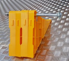 Galvanised Tube Holder for X-Block Folding Wheel Chock (Holds up to 2 Chocks)