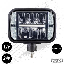 Strands ALASKA Snow plow lamp LED – Auto-heating lens 9-32V E-Approved