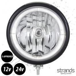 Strands Visby Halogen Driving Light With LED Angel Eyes 12 / 24 Volts E-Approved - 3 Year Warranty