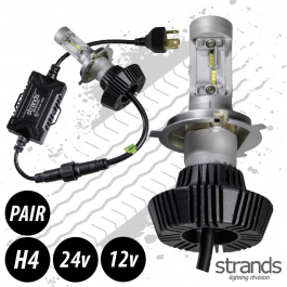 CLEARANCE LED Headlight Conversion Kit, H4, 12/24v, Fully E Approved