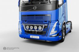 Volvo FH5 Front Grill Bar with LED's (Pre-Wired for 4 Spotlights)