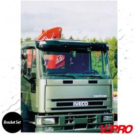 Iveco Eurocargo 04/2003 Acrylic Sunvisor Bracket Set Without Center Bar - Bracket Set Only