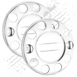 "10 Stud Closed Plain Nut Covers - 22.5"" Wheel Trim (Pair)"