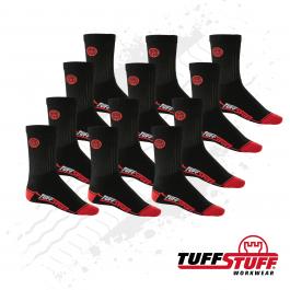 TuffStuff 606 Extreme Work Sock (Black) 6 Pair DEAL PACK