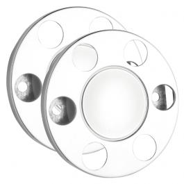 "6 Stud Closed Donut Rings Nut Covers - 17.5"" Wheel Trim (Pair)"