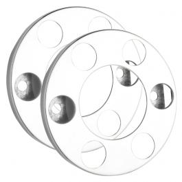 """6 Stud Open Donut Rings Nut Covers - 17.5"""" Wheel Trim (Pair)"""