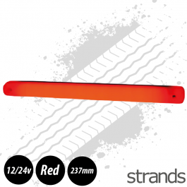 Strands Red LED Strip Light 12/24v E-Marked
