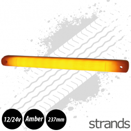 Strands Amber LED Strip Light 12/24v E-Marked