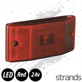 Red LED Flush Fit Marker Light