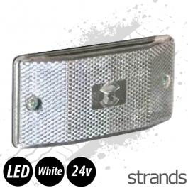 White LED Flush Fit Marker Light
