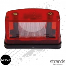 Halogen Number Plate / Position Light Red 12v or 24V
