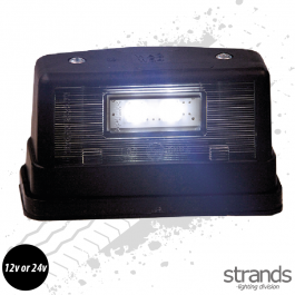 3 LED Number Plate Light - Black