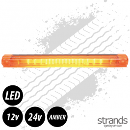 18 LED, Long Surface Mount Beacon/Warning Light ECE R65 12/24v