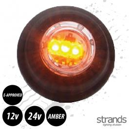 29mm Round Side Marker / Position Lamp LED (Amber)