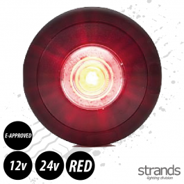 60.6mm Round Side Marker / Position Lamp LED (Red)