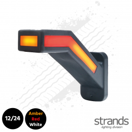Strands 12/24v Rubberarm Long Left Dynamic Indicator