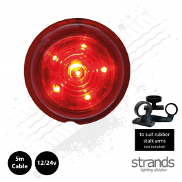 Red Lens, Red LED Viking / Gylle Bullet Side Marker Light 12/24v