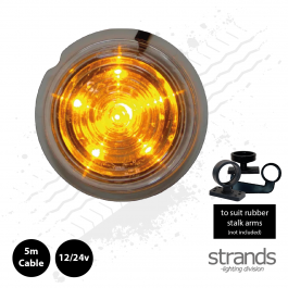 Clear Lens, Amber LED Viking / Gylle Bullet Side Marker Light 12/24v
