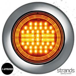 Strands Universal IZE Amber LED Indicator Light 10-30V DC, IP67, E-approved. - 3 Year Warranty