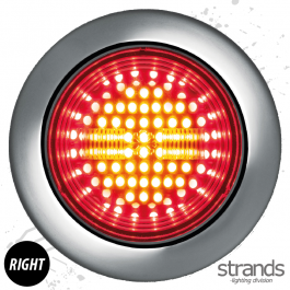 Strands Universal IZE LED Tail/Brake & Dynamic Right Indicator Light 10-30V DC, IP67, E-approved. - 3 Year Warranty