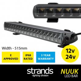 NUUK LED Bar, E Approved Driving Light Bar, 12/24v, 515mm