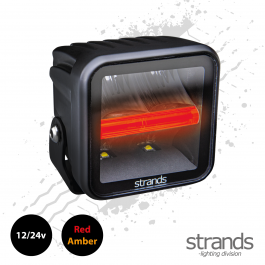 Strands SIBERIA Red Panda Qube Worklight (LED) 12/24v, Amber / Red Side Light - PRE-ORDER MAY 21
