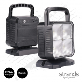 Handy, SuperBright Rechargeable, Magnetic Work Light. Portable Lamp 12/24v by Strands