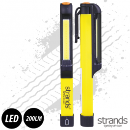 Strands Portable Hand Held Battery LED Flashlight 200 Lumens including 3 AAA Batteries