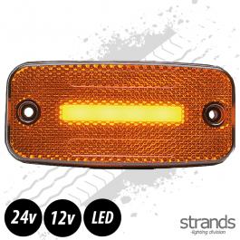 Strands Amber LED Side Marker Light SLD One Line 12/24 Volts