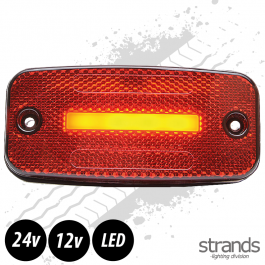 Strands Red LED Side Marker Light SLD One Line 12/24 Volts