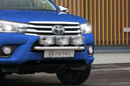 Toyota Hilux Front Mini Grill Bar - Stainless Steel 2016 onwards