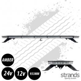 Strands Monitum Black Slim Position 90w LED Amber Light Bar 933mm, 12/24 Volt E-Approved - 3 Year Warranty