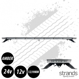 Strands Monitum Black Slim LED Amber Beacon Light Bar 1239mm 12/24 Volt E-Approved - 3 Year Warranty